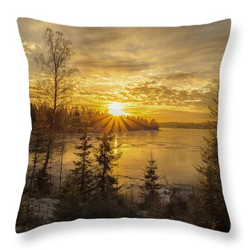 Throw Pillow featuring the photograph Norway by Rose-Maries Pictures