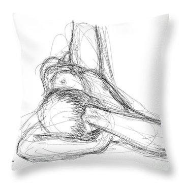 Nude Male Sketches 2 Throw Pillow