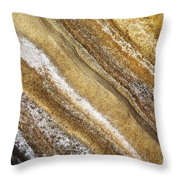Ocean Cliff Textures 3 Throw Pillow