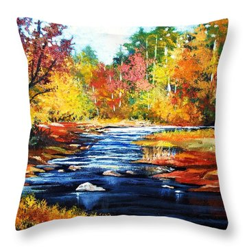 October Bliss Throw Pillow by Al Brown