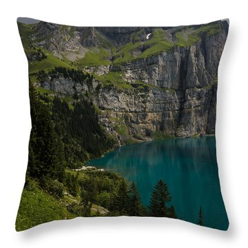 Oeschinensee - Swiss Alps - Switzerland Throw Pillow