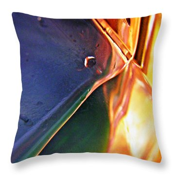Oil And Water 25 Throw Pillow by Sarah Loft