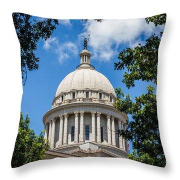 Oklahoma State Capital Dome Throw Pillow