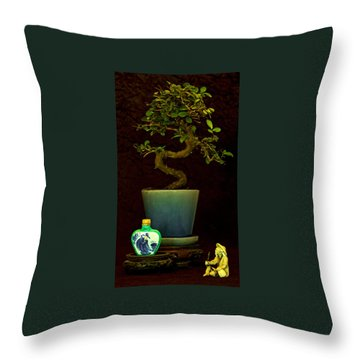 Old Man And The Tree Throw Pillow