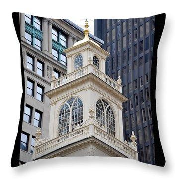 Old State House Boston Ma Throw Pillow