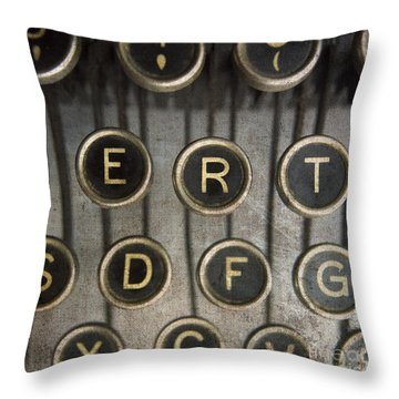 Old Typewrater Throw Pillow by Bernard Jaubert