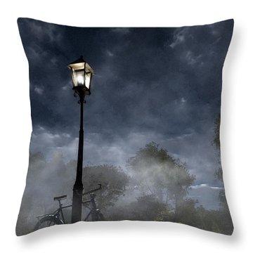 Ominous Avenue Throw Pillow