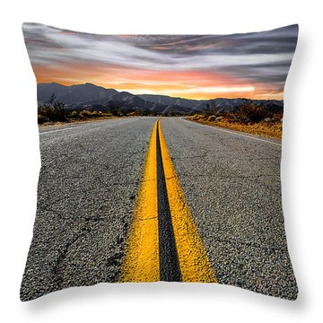 On Our Way  Throw Pillow