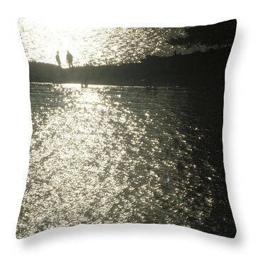 Throw Pillow featuring the photograph 2 At The Beach by Mark Alan Perry