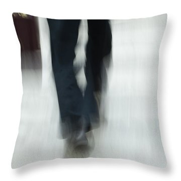 On The Go Throw Pillow by Karol Livote