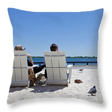 On The Waterfront Throw Pillow by Keith Armstrong