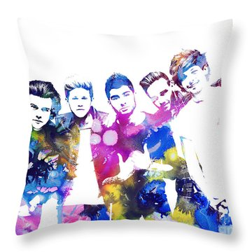 One Direction Throw Pillow by Doc Braham