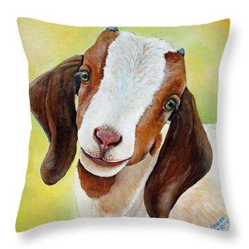 Goats Throw Pillows