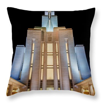 Oquirrh Mountain Temple 1 Throw Pillow by Chad Dutson