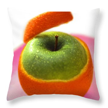 Oranple Throw Pillow