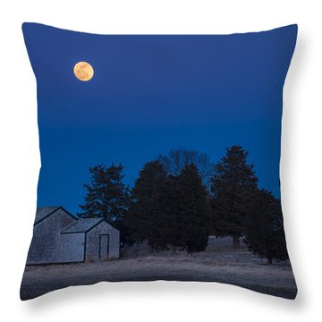 Over The Boathouse Throw Pillow