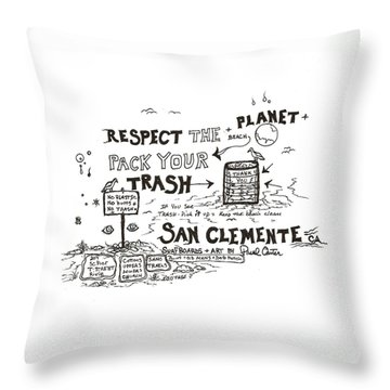 Pack Your Trash Throw Pillow