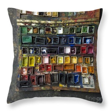 Paint Box Throw Pillow by Bernard Jaubert