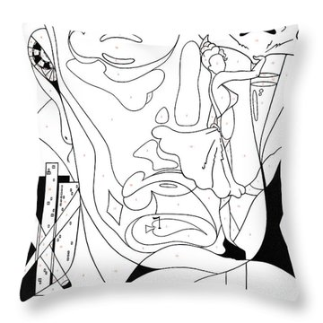 Paint By Number Las Vegas Throw Pillow
