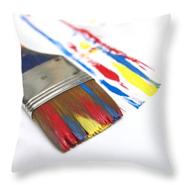 Paintbrush Throw Pillow by Bernard Jaubert