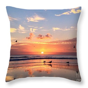 Throw Pillow featuring the photograph Painted Sky by LeeAnn Kendall