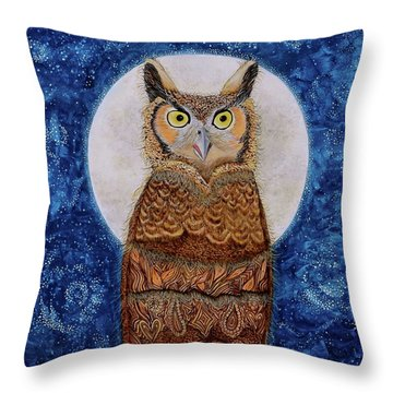 Throw Pillow featuring the painting Paisley Moon by Deborha Kerr