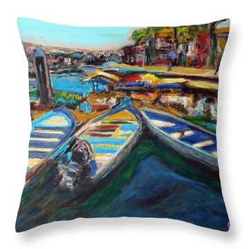 Pangas In Noon Day Sun Throw Pillow