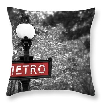 Paris Metro Throw Pillow by Elena Elisseeva
