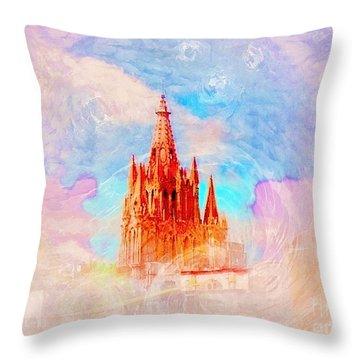 Throw Pillow featuring the photograph Parish Of St. Michael The Archangel by John  Kolenberg