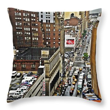 Throw Pillow featuring the photograph Park N Lock by Lilliana Mendez
