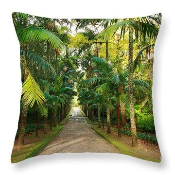 Parque Terra Nostra Throw Pillow by Gaspar Avila