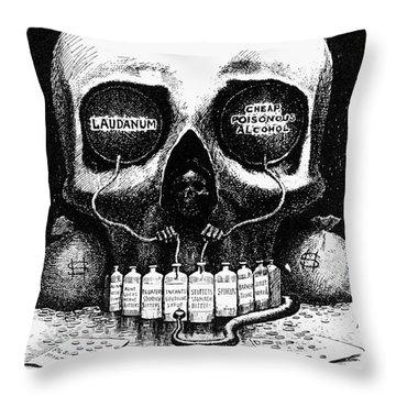 Patent Medicine Cartoon Throw Pillow by Granger