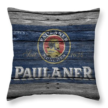 Paulaner Throw Pillow by Joe Hamilton