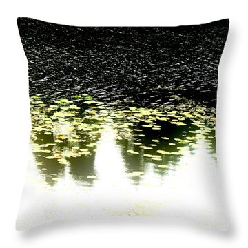 Peek Throw Pillow by Pauli Hyvonen