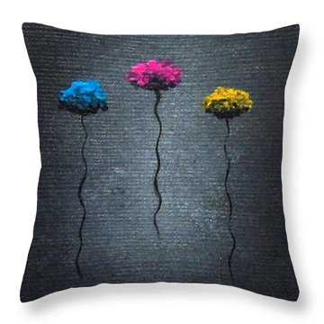 Throw Pillow featuring the painting Petite Pretties by Oddball Art Co by Lizzy Love