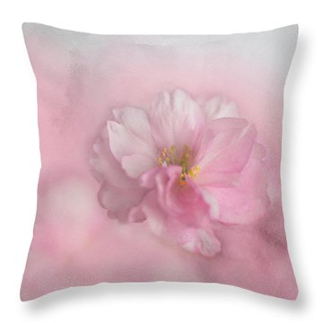 Pink Blossom Throw Pillow