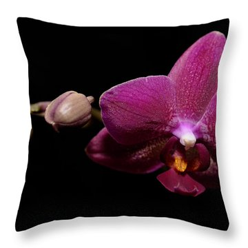 Pink Orchid Throw Pillow by Tommytechno Sweden