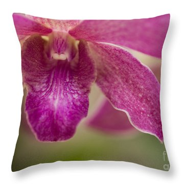 Throw Pillow featuring the photograph Pink Orchids 1 by Chris Scroggins