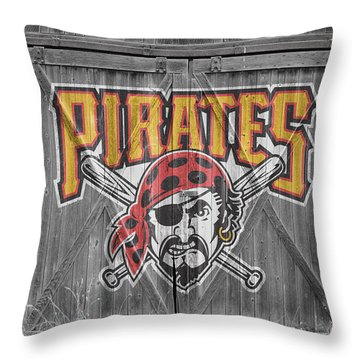 Pittsburgh Pirates Throw Pillow by Joe Hamilton