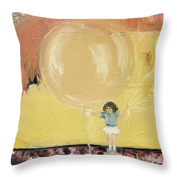 Playground Throw Pillow by Evelina Popilian