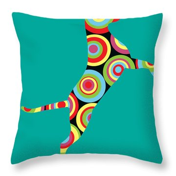Pointer Throw Pillow by Mark Ashkenazi