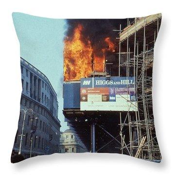 Poll Tax Riots London Throw Pillow