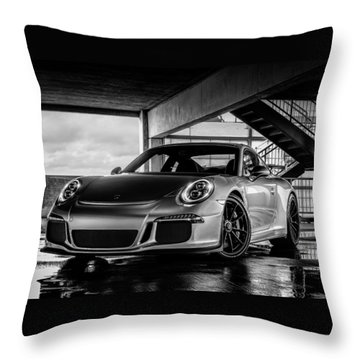 Porsche 911 Gt3 Throw Pillow