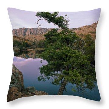 Post Oak Lake And Elk Mountain Throw Pillow