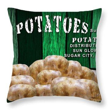 Potato Farm Throw Pillow