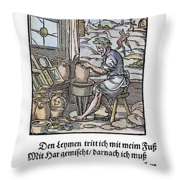 Potter, 1568 Throw Pillow
