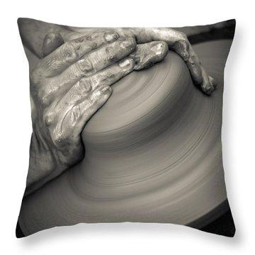 Pottery Wheel  Throw Pillow