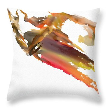 Pray Throw Pillow by Len YewHeng