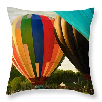 Throw Pillow featuring the photograph Preakness Balloon Festival by Dana Sohr