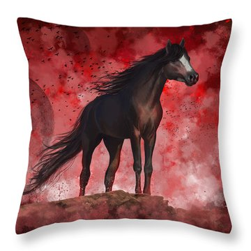 Protector Throw Pillow by Kate Black